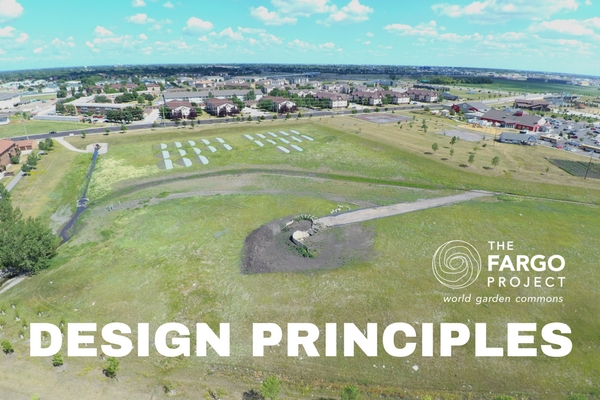 Aerial view of The Fargo Project's pilot site, World Garden Commons at Rabanus Park by L. Hoffarth