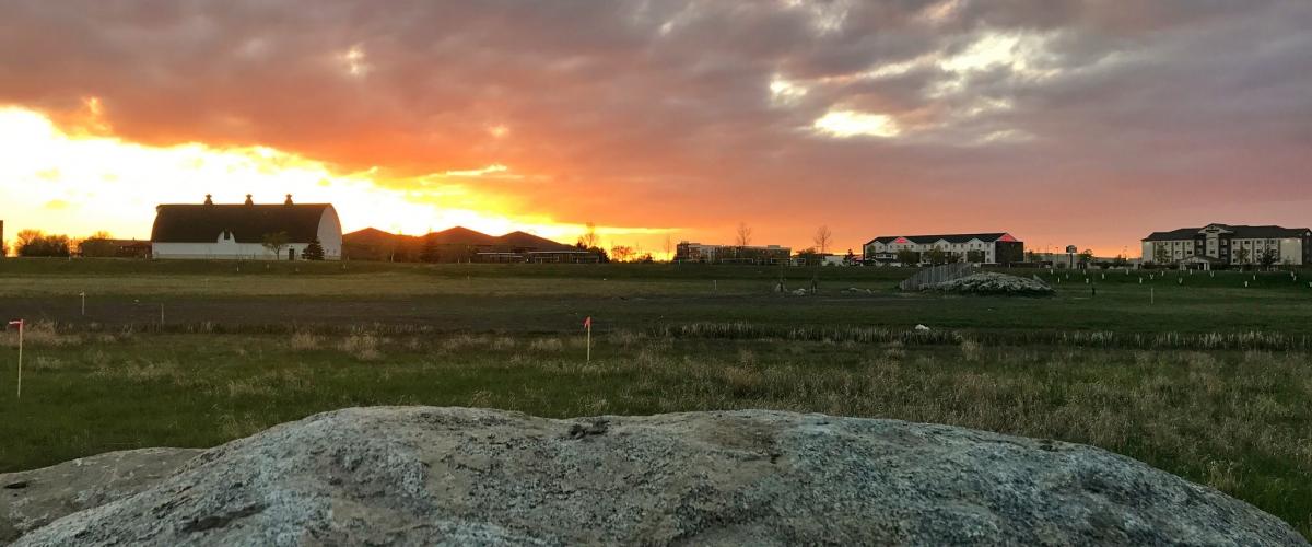 Sunset on World Garden Commons
