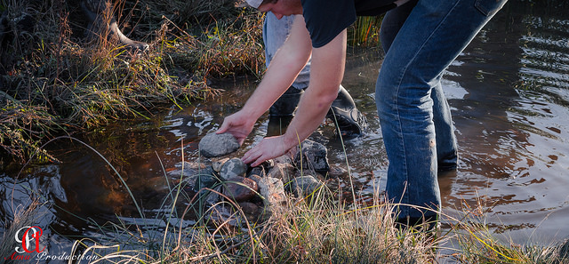 NDSU NRM & Wildlife Students create a water feature